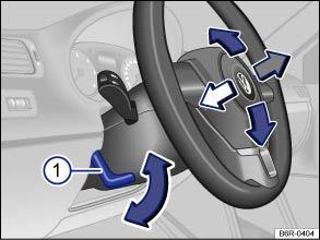 volkswagen polo owners manual adjusting the steering wheel